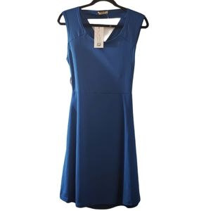 NWT! ACEVOG Deep Blue Sleeveless Dress M
